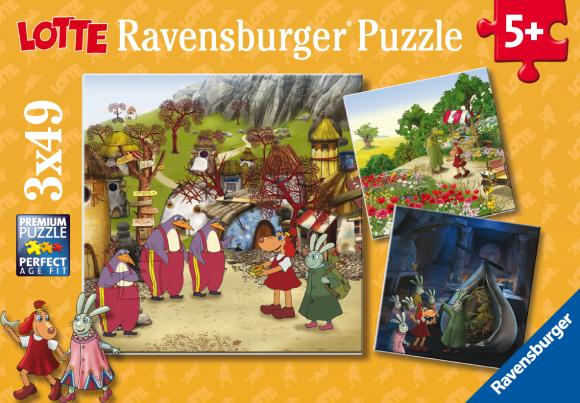 Ravensburger pusle Lotte 3 x 49 tk