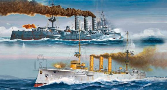 Revell mudellaev German WWI Light Cruisers SMS Dresden & SMS Emden 1:350