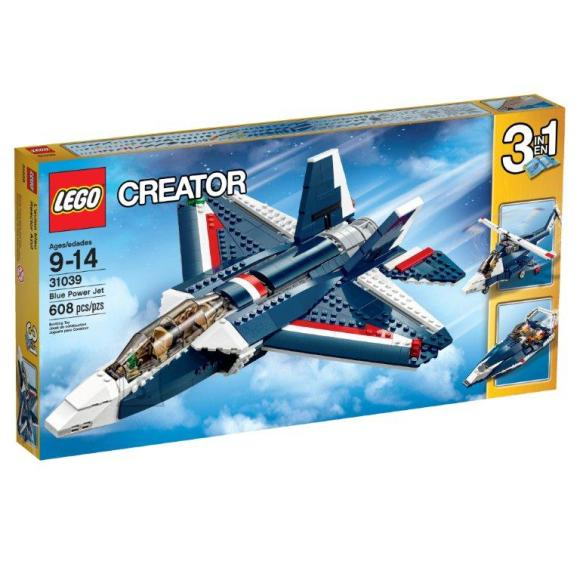 LEGO Creator Sinine reaktiivlennuk