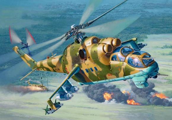 Revell mudelhelikopter Mil Mi-24D Hind-D 1:48