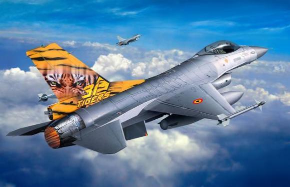 Revell mudelhävitaja Lockheed Martin F-16 Mlu TigerMeet 1:144