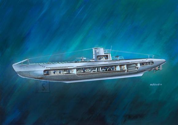 Revell mudelallveelaev German Submarine U-47 with Interior 1:125