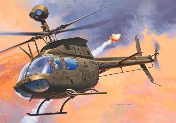Revell mudelhelikopter Bell OH-58D Kiowa 1:72