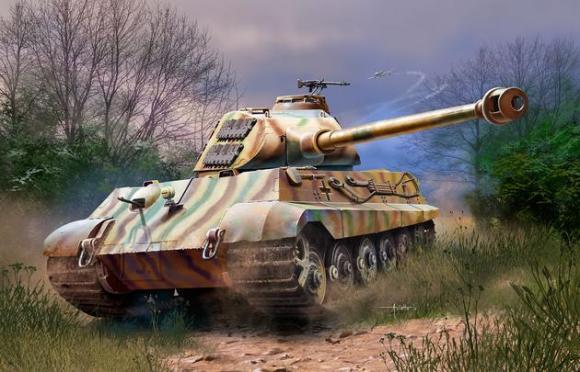 Revell mudeltank Tiger II Ausf. B (Porsche Prototype Turret) 1:72