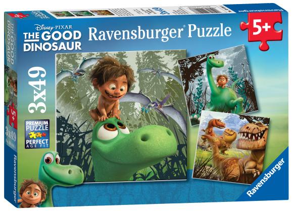 Ravensburger Ravensburger puzzle 3*49 tk Dinosaurus Arlo