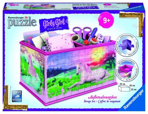 Ravensburger Ravensburger 3D puzzle hoiulaegas Ükssarv
