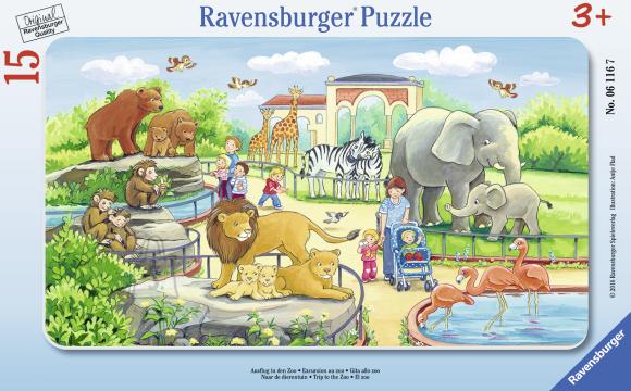 Ravensburger plaatpusle Reis loomaaeda 15 tk