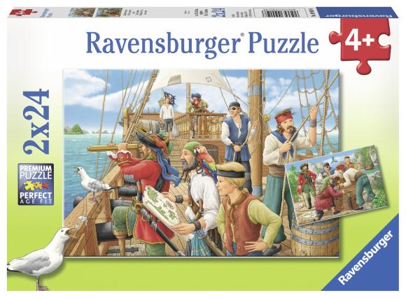 Ravensburger pusle Piraadid 2x24 tk