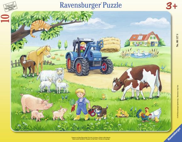 Ravensburger plaatpusle Suvi farmis 10 tk