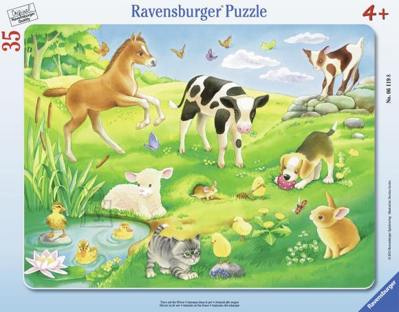 Ravensburger plaatpusle Loomad aasal 35 tk