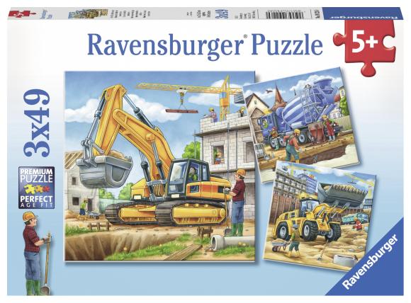Ravensburger pusle Suured töömasinad 3x49 tk