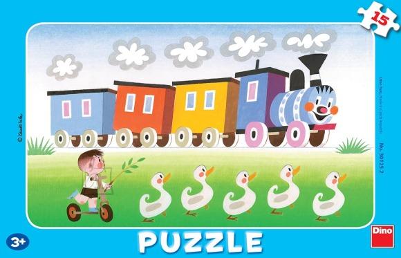 Dino Dino väike plaatpuzzle 15 tk