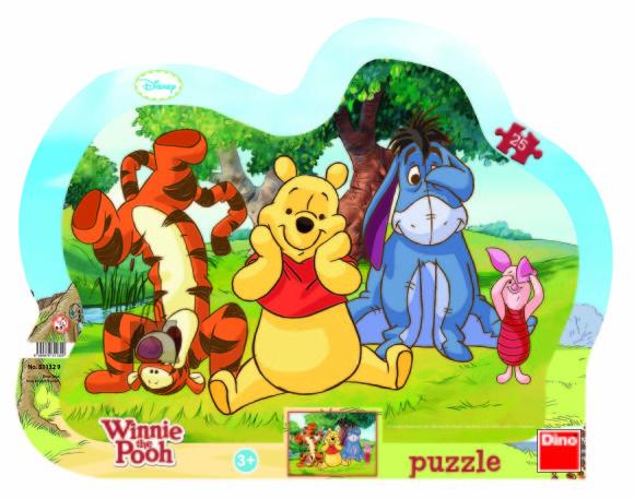 Dino Dino plaatpuzzle siluett Winnie Puhh 25 tk