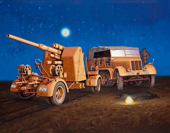 Revell Revell Sd.Kfz.7 + 8,8 cm Flak 37 1:72