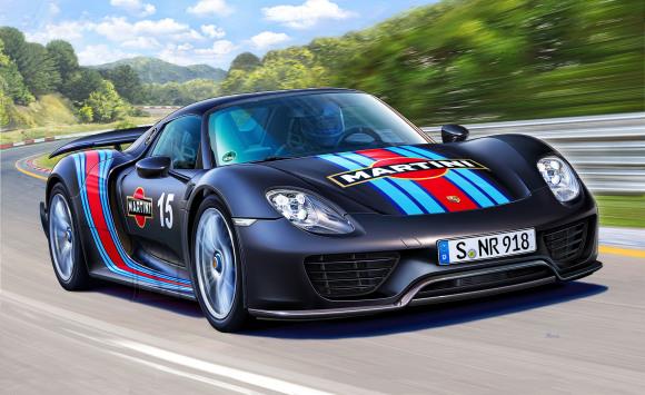 Revell Revell Porsche 918 Spyder with Weissach package 1:24