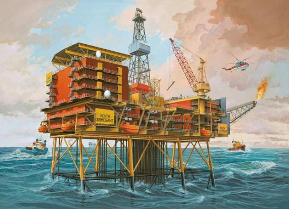 Revell Revell Off-Shore Oilrig North Cormorant 1:200