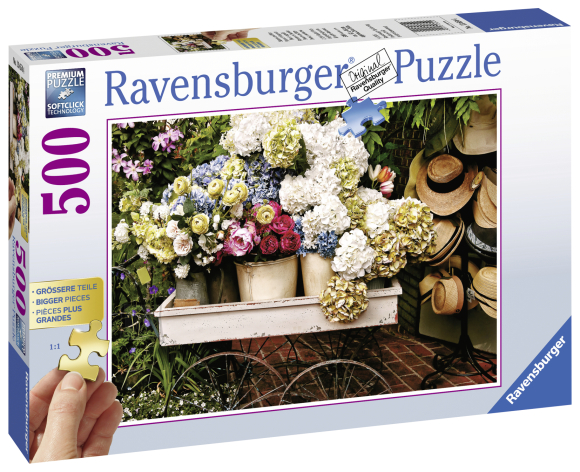 Ravensburger Ravensburger puzzle 500 XXL tk. Lilled ja kübarad