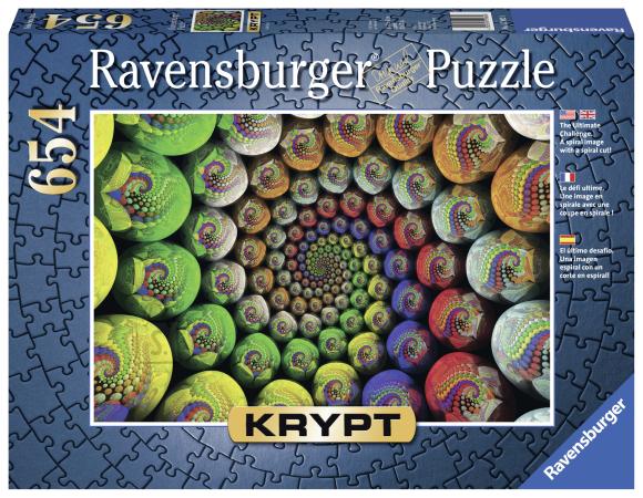 Ravensburger Ravensburger puzzle 654 tk. Krypt - Värviline spiraal