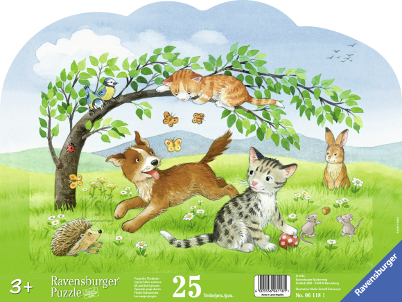 Ravensburger Ravensburger siluett plaatpuzzle 25 tk. Loomalapsed