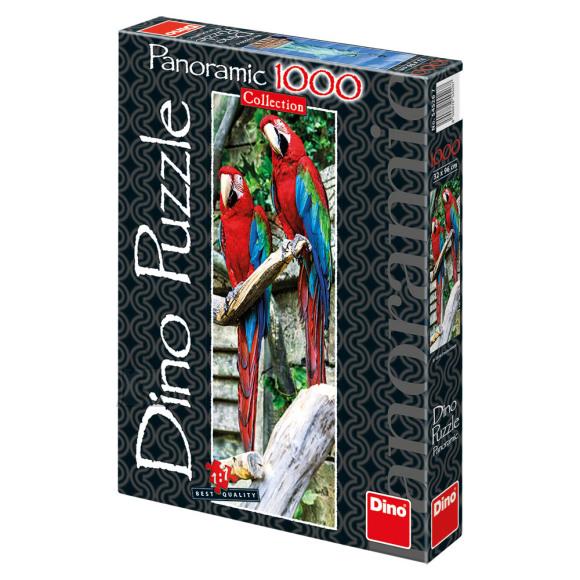 Dino Dino panoraampuzzle 1000 tk. Papagoid