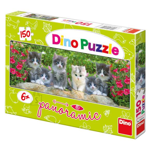 Dino Dino puzzle 150 tk. Kiisud aias