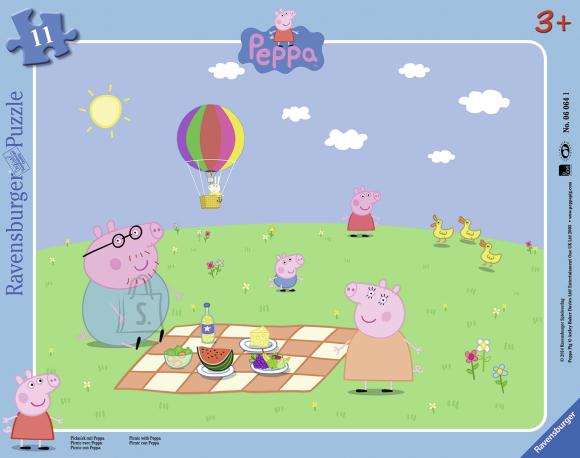 Ravensburger plaatpuzzle Peppa pere piknikul 11 tk