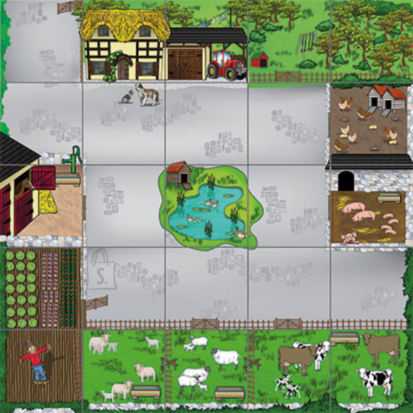 Bee-Bot ja Blue-Bot farmimatt