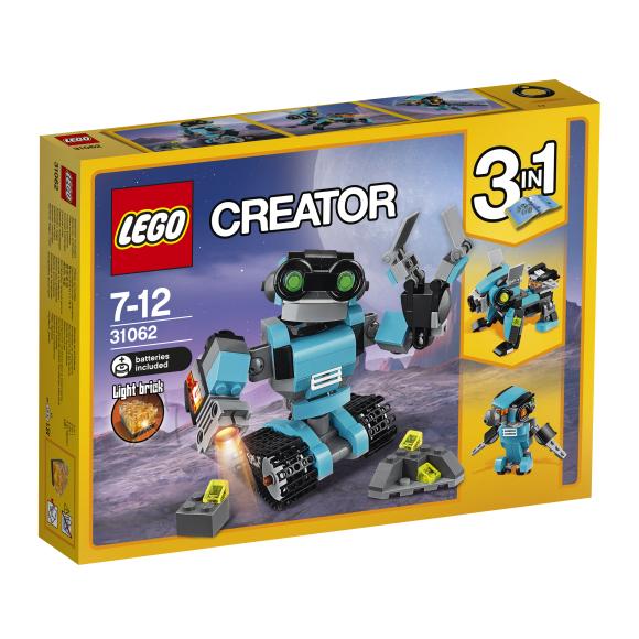 LEGO Creator 3-in-1 Uurimisrobot 31062