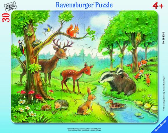 Ravensburger plaatpusle Metsloomad 30 tk