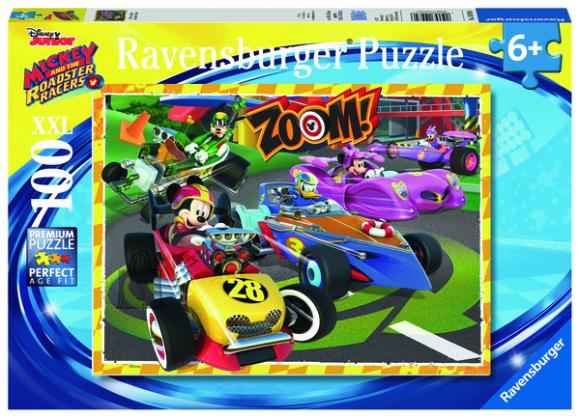 Ravensburger pusle Mickey võidusõit 100 XXL tk