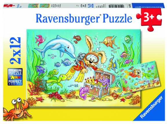 Ravensburger pusle Veealune maailm  2x12 tk