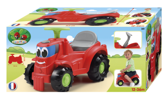 Ecoiffier jalgadega lükatav traktor alstele
