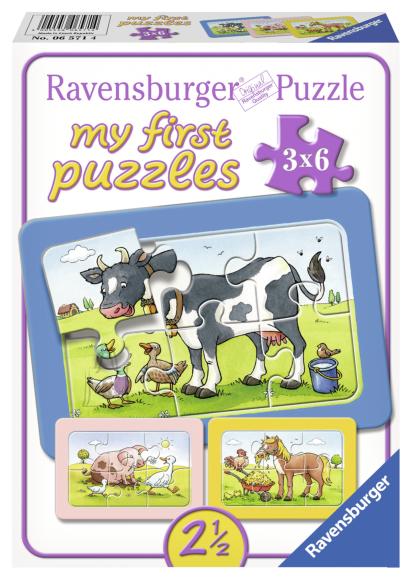 Ravensburger minu esimene pusle Farmi loomad 3x6 tk