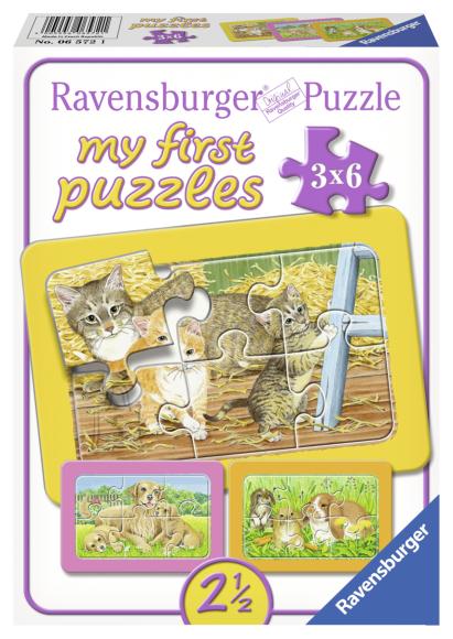 Ravensburger minu esimene pusle Koduloomad 3x6 tk