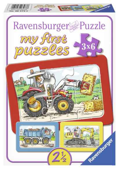 Ravensburger Ravensburger minu esimene pusle Töötegu 3x6 tk