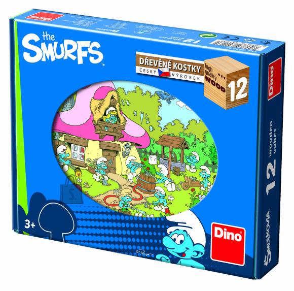 Dino puidust klotsidest pusle Smurf 12 tk