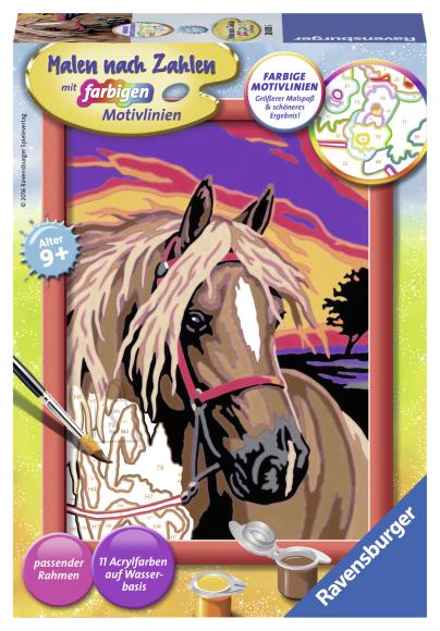 Ravensburger maalimine Hobune