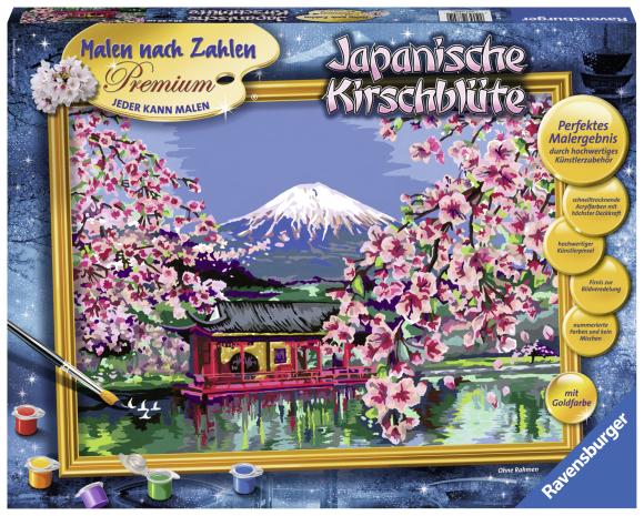 Ravensburger maalimiskomplekt Jaapan kirsiõites