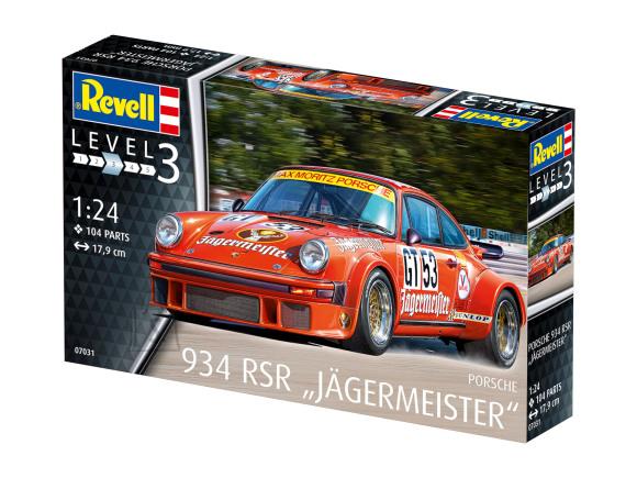 Revell mudelauto Porsche 934 RSR Jägermeister 1:24