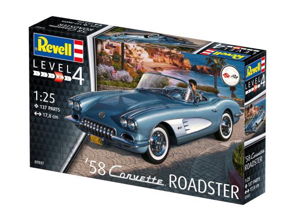 Revell mudelauto '58 Corvette Roadster 1:25