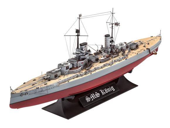 Revell mudellaev WWI Battleship SMS König 1:700