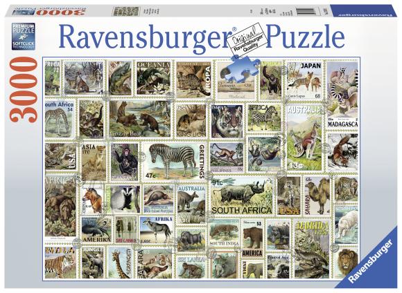 Ravensburger pusle Loomadega postmargid 3000tk