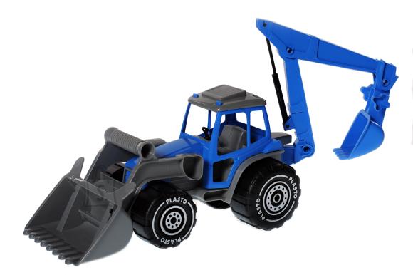 Plasto traktor saha- ja kopaga