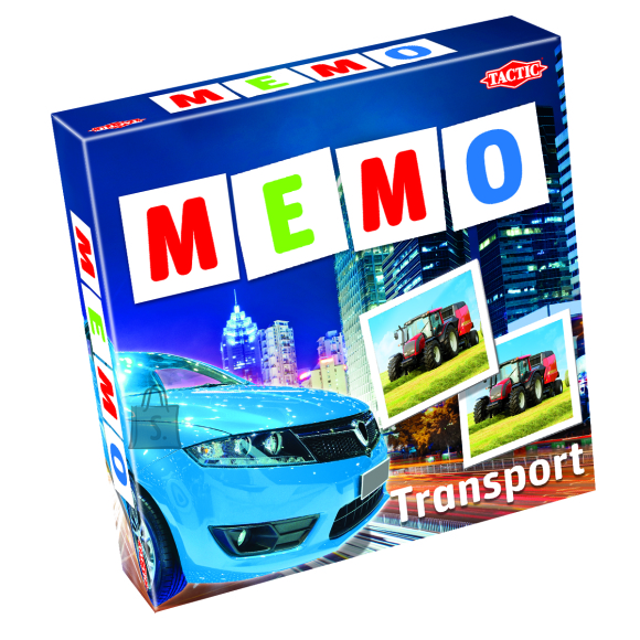 Tactic lauamäng Memo sõidukid