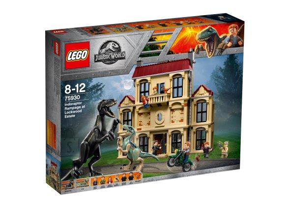 LEGO klotsid Jurassic World Indoraptori rünnak Lockwoodile