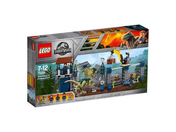 LEGO klotsid Jurassic World Dilophosauruse rünnak piiripunktile