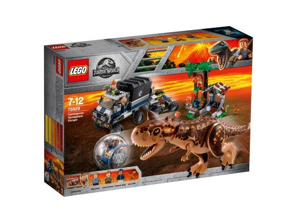 LEGO klotsid Jurassic World Carnotauruse eest põgenemine gürokeras
