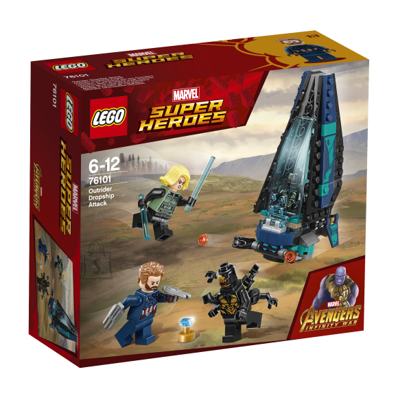 LEGO klotsid Super Heroes Outrider Dropshipi rünnak