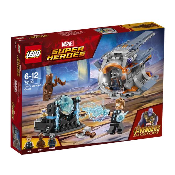 LEGO klotsid Marvel Super Heroes Thori relvarännak