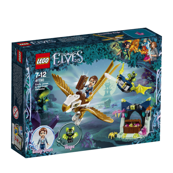 LEGO klotsid Elves Emily ja Jones põgenemine kotkal